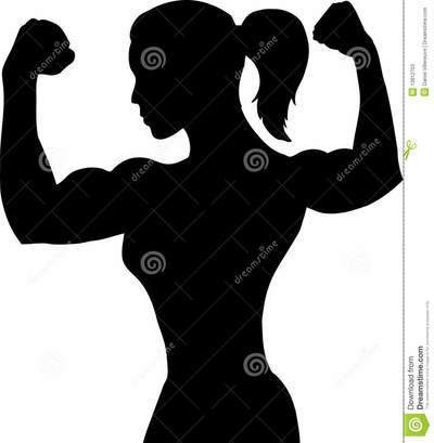 Outline female bodybuilder 13812703