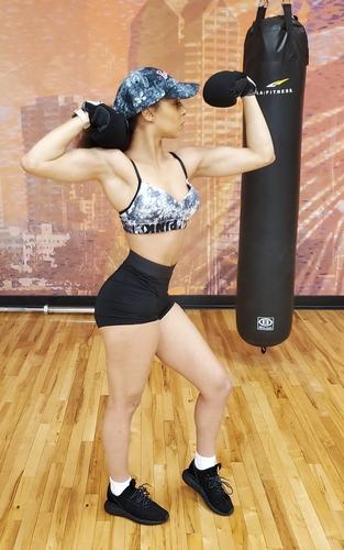 Slim muscular Goddess